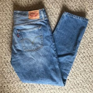 Levi Strauss 501 Button Fly Boyfriend Fit Jeans
